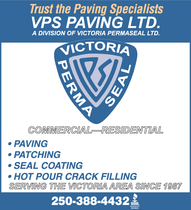 Victoria BBB 25 yrs exp Paving & Seal Coating Victoria BC